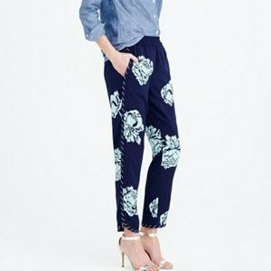 J Crew Reese Pant - Peony size 6          Pull-on
